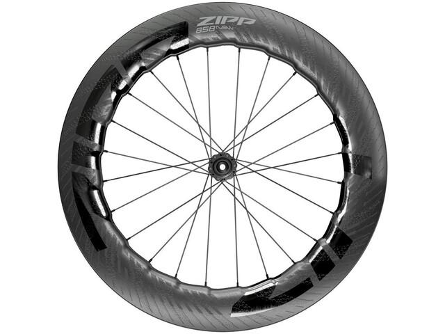 """Zipp 858 NSW Roue Avant 28"""" 12x100mm Carbon Disque CL Tubeless, black"""
